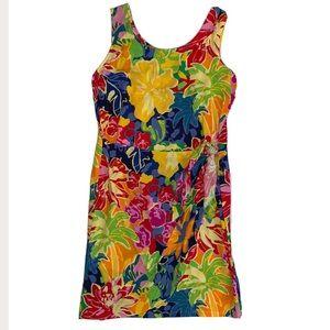 Hilo Hattie   Hawaiian Vintage Wrap Dress Floral